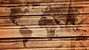 Mapa do mundo monocromático Foto de Stock