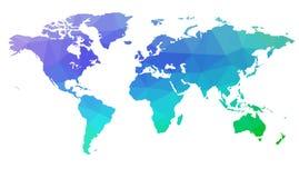 Mapa do mundo nos triângulos Vetor 2 Fotografia de Stock Royalty Free