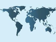 Mapa do mundo, terra do papel de parede Ilustração Royalty Free