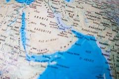 Mapa do mundo, tiro do close up Fotografia de Stock