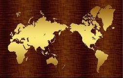Mapa do mundo valioso Foto de Stock