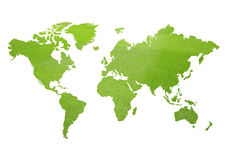 Mapa do mundo verde Fotos de Stock Royalty Free