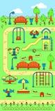 Mapa do parque da cidade com campo de jogos das crianças Imagem de Stock Royalty Free