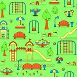 Mapa do parque da cidade com campo de jogos das crianças Fotografia de Stock Royalty Free