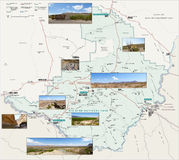 Mapa do parque nacional de curvatura grande Foto de Stock Royalty Free