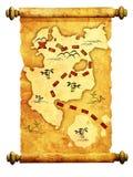 Mapa do pirata Imagem de Stock Royalty Free