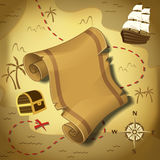 Mapa do pirata Foto de Stock