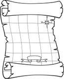 Mapa do pirata Foto de Stock Royalty Free