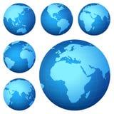 Mapa do planeta ilustração stock