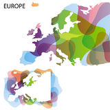 Mapa do projeto de Europa Fotos de Stock Royalty Free