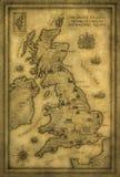 Mapa do Reino Unido Imagens de Stock