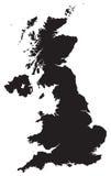 Mapa do Reino Unido Fotografia de Stock
