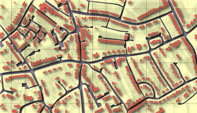 Mapa do subúrbio Imagens de Stock