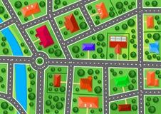 Mapa do subúrbio Imagem de Stock Royalty Free