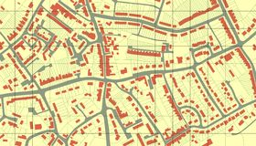 Mapa do subúrbio Fotos de Stock