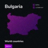 Mapa do sumário do vetor de Bulgária ilustração do vetor