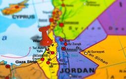 Mapa do telefone Aviv Israel imagem de stock royalty free