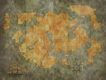 Mapa do tesouro imagens de stock