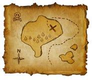 Mapa do tesouro Fotografia de Stock Royalty Free
