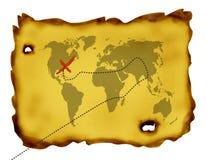 Mapa do tesouro Fotografia de Stock