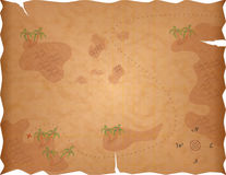Mapa do tesouro do pirata Foto de Stock Royalty Free