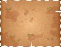 Mapa do tesouro do pirata Foto de Stock Royalty Free