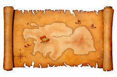 Mapa do tesouro do pirata Imagem de Stock Royalty Free