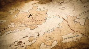 Mapa do tesouro do pirata Imagem de Stock Royalty Free
