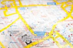 Mapa do tubo de Londres Fotos de Stock