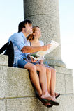 Mapa do turismo Imagens de Stock Royalty Free