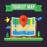 Mapa do turista Fotos de Stock Royalty Free