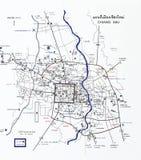 Mapa do turista de Chiang Mai Imagens de Stock Royalty Free