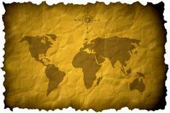 Mapa do Velho Mundo Imagens de Stock