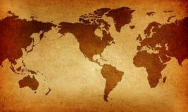 Mapa do Velho Mundo Fotos de Stock