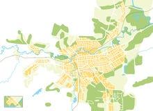 Mapa do vetor da cidade Fotos de Stock Royalty Free