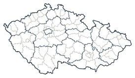 Mapa do vetor da república checa Imagens de Stock