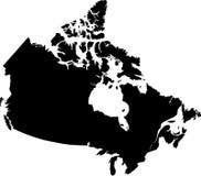 Mapa do vetor de Canadá Imagem de Stock