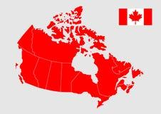 Mapa do vetor de Canadá Fotografia de Stock