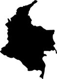 Mapa do vetor de Colômbia ilustração royalty free