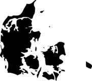 Mapa do vetor de Dinamarca Fotografia de Stock