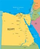 Mapa do vetor de Egipto ilustração royalty free
