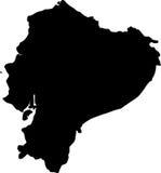 Mapa do vetor de Equador ilustração royalty free