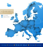 Mapa do vetor de Europa Foto de Stock Royalty Free