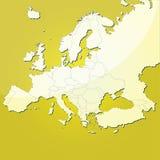 Mapa do vetor de Europa Foto de Stock Royalty Free