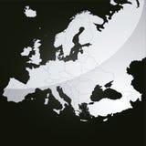Mapa do vetor de Europa Fotos de Stock Royalty Free