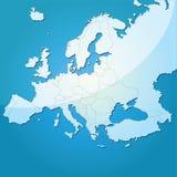 Mapa do vetor de Europa Imagens de Stock Royalty Free
