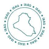 Mapa do vetor de Iraque Imagens de Stock
