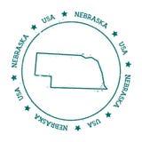 Mapa do vetor de Nebraska Imagens de Stock Royalty Free
