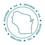Mapa do vetor de Wisconsin Imagem de Stock Royalty Free