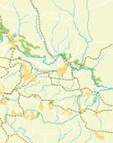 Mapa do vetor do país Imagens de Stock Royalty Free